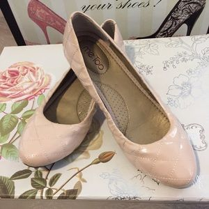 Blush colored flats by Me Too